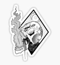 Skull Emission Sticker