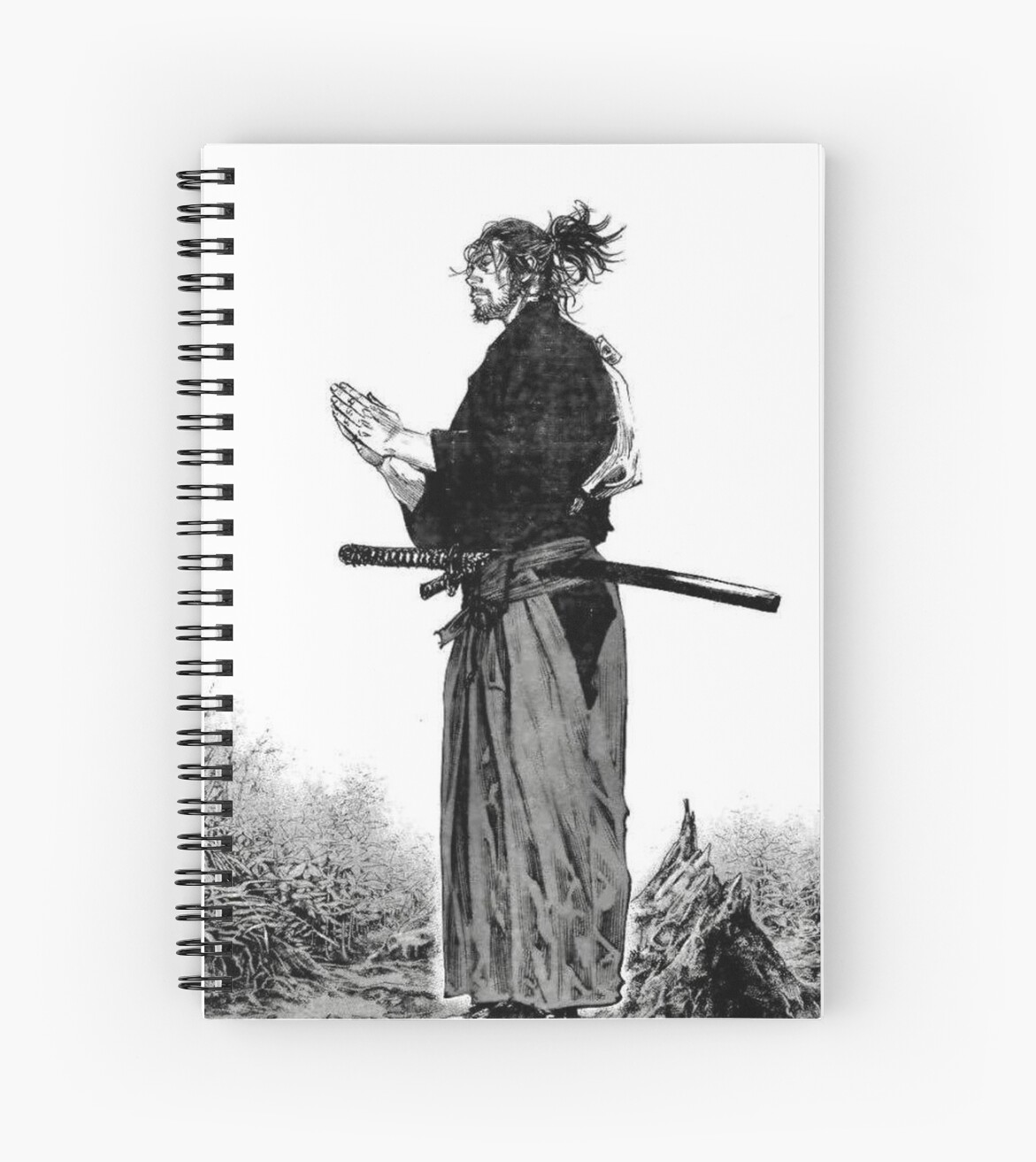 "Manga Samurai Spiral Notebooks By Jiggymiggy: Manga Samurai"" Spiral Notebooks By JiggyMiggy"