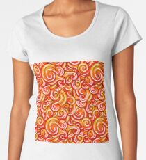 Vector waves decorative doodles seamless pattern colorful Women's Premium T-Shirt