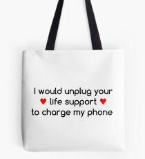 Life Priorities (Red Hearts) Tote Bag
