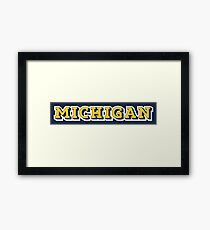 Michigan State 3D Letter Framed Print