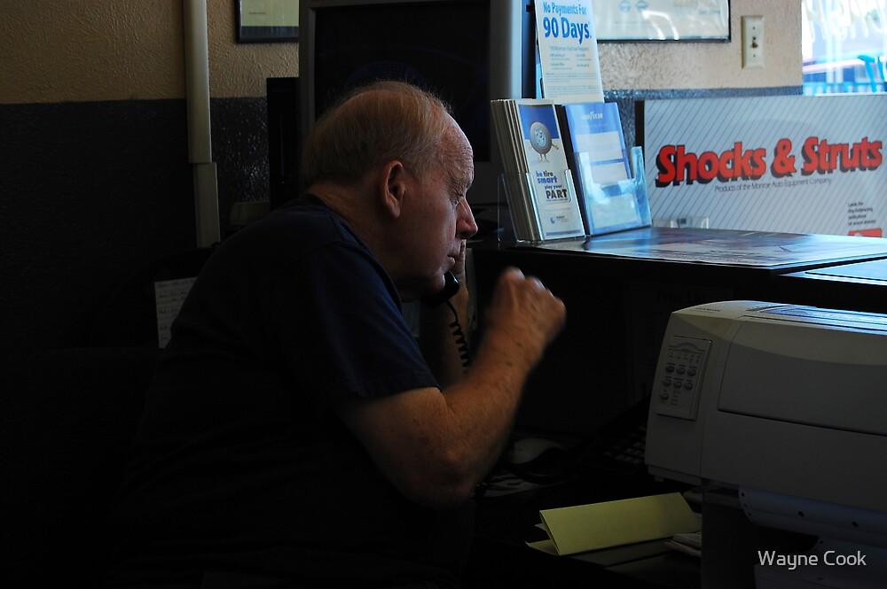Alan Shipman at work by Wayne Cook