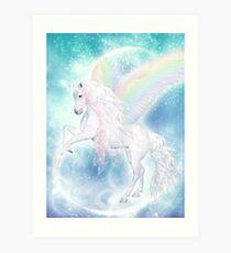 Rainbow Pegasus Kunstdruck
