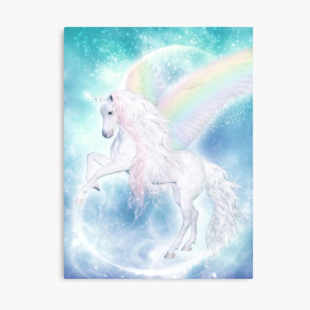 Rainbow Pegasus Leinwanddruck