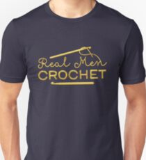 Real Men Crochet Slim Fit T-Shirt