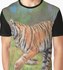 Running Tiger Graphic T-Shirt