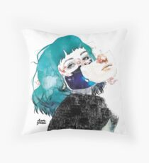 If you shut me up by elenagarnu Throw Pillow