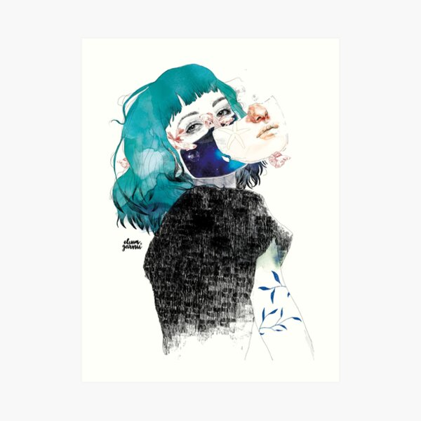 If you shut me up by elenagarnu Art Print