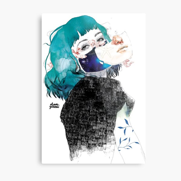 If you shut me up by elenagarnu Metal Print