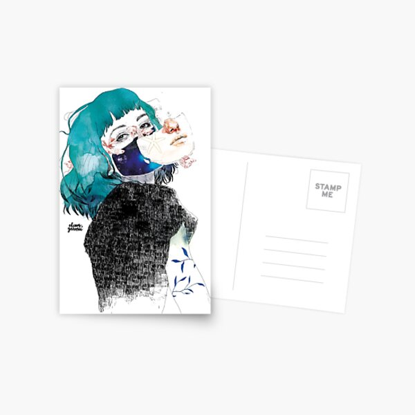 If you shut me up by elenagarnu Postcard