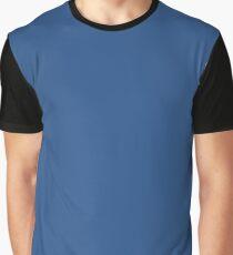 True Blue   Solid Colour Graphic T-Shirt