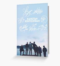 BTS Signature light blue Edit [READ DESCRIPTION] Greeting Card