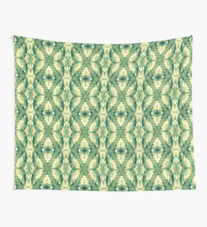 Green Forest Psychedelic Angels Wall Tapestry