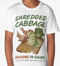 Shredded Cabbage Long T-Shirt