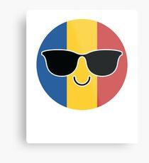 Romania Emoji   Metal Print