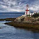 East Quaddy Headlight - Campobello Island, New Brunswick by Kathy Weaver