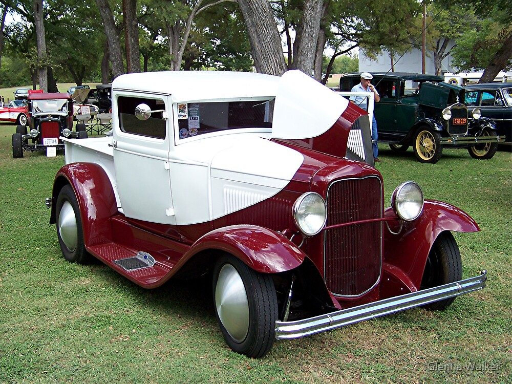 1932 Ford Closed Cab Pickup Truck by Glenna Walker