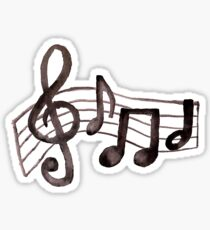 Pegatina Acuarelas Musicales