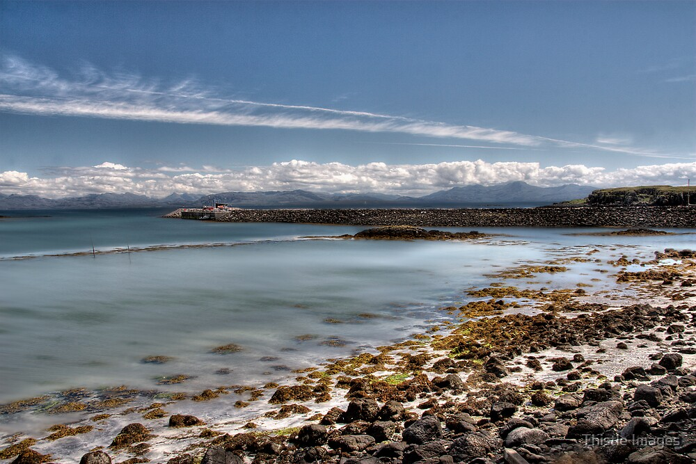 Eigg Beach, Isle of Eigg. by Thistle Images
