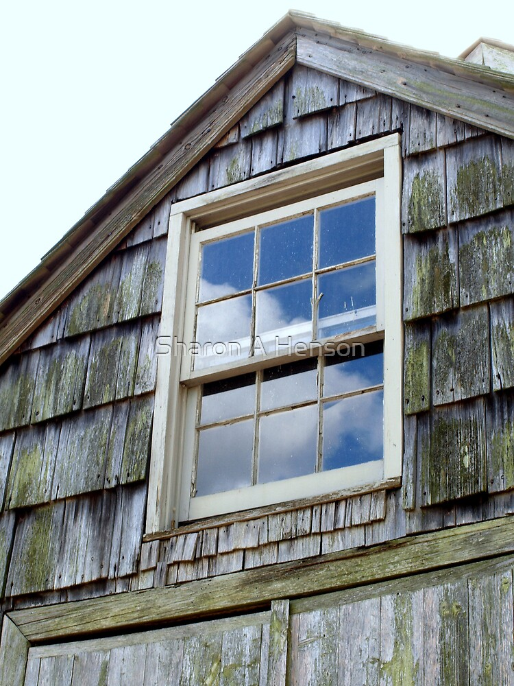 REFLECTIONS IN THE BARN WINDOW by Sharon A. Henson