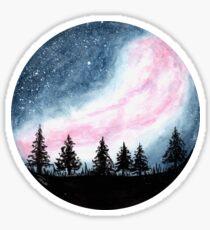 Galaxy Forest - Round Sticker