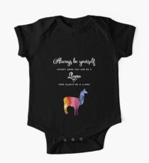 Llama - Rainbow Color, Watercolor Kids Clothes
