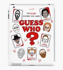 Killer Guess Who - Horror Design iPad Case/Skin