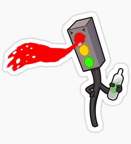 Traffic Light Blues  Sticker