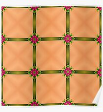 Abstract Festive Ribbon Background Poster