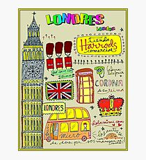 LONDRES : London Travel and Tourism Advertising Print Photographic Print