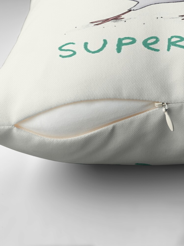 Alternate view of Super Coo Throw Pillow