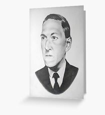 HP Lovecraft Greeting Card
