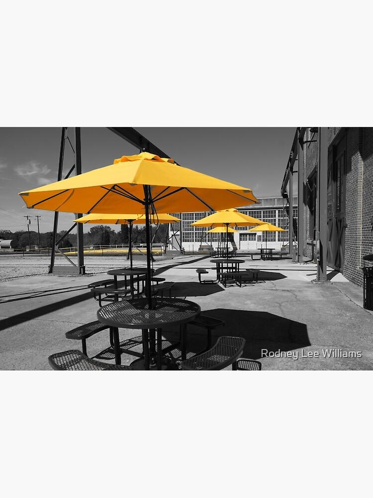 Yellow Umbrellas by Rodwilliams