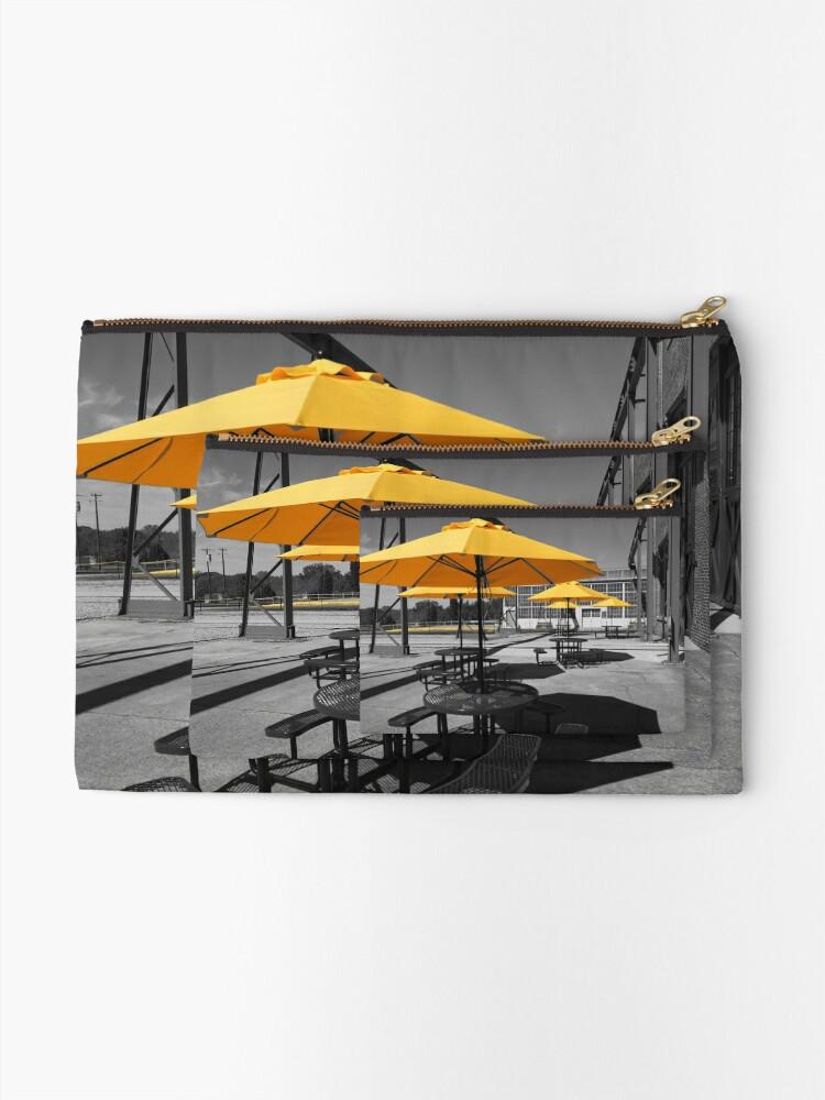 Alternate view of Yellow Umbrellas Zipper Pouch