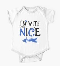 b65ddf0cd8 I'm with Nice Funny Couples Christmas Matching T-shirt Short Sleeve Baby One