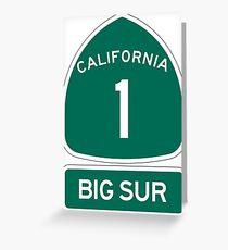 PCH - CA Highway 1 - Big Sur Greeting Card