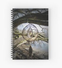 Infinity themed large dreamcatcher  Spiral Notebook