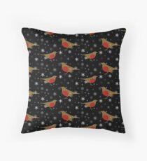 Robins and christmas snow Floor Pillow