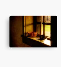 A Light In The Window Canvas Print