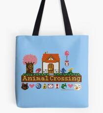 Tier-Kreuzung Pixel Haus Tote Bag