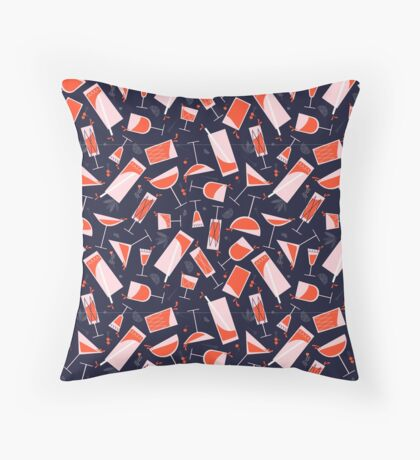 Cheers in vintage style! Throw Pillow