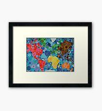 Spirograph world map Framed Print