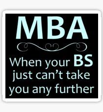 MBA - Masters Degree Graduation Sticker