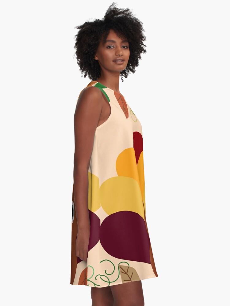 Alternate view of Thanksgiving Turkey A-Line Dress