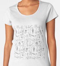 Cats patterns Women's Premium T-Shirt