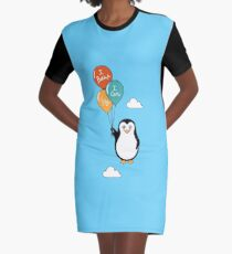 Penguin I Can Fly Graphic T-Shirt Dress