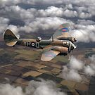 Bristol Blenheim Mk I in flight by Gary Eason