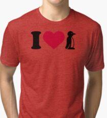 I love Penguin Tri-blend T-Shirt