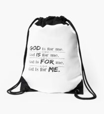 God Is for Me  Drawstring Bag