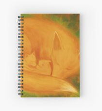 A fox family in autumn ... Spiral Notebook